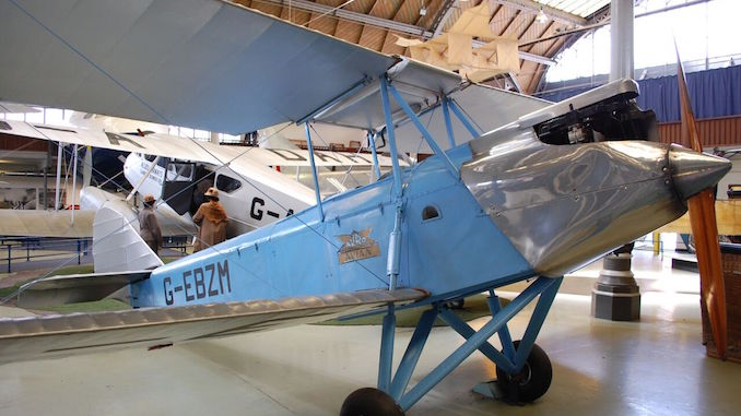 The Avian Avro G-EBZM at the Manchester Museum of Science and Industry