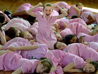 Young actresses at Loreto Preparatory School