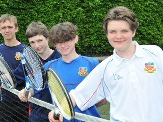 Jasper Kearns, John Shellien, James McDaid, and Peter Alam from St Ambrose College