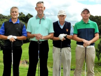 Seashell Trust golf day winners - Andrew Adshead, Dave Peel, Andy Heywood and Rodney Gorton