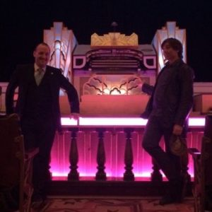 Mark Steel with Ted Doan at Stockport Plaza