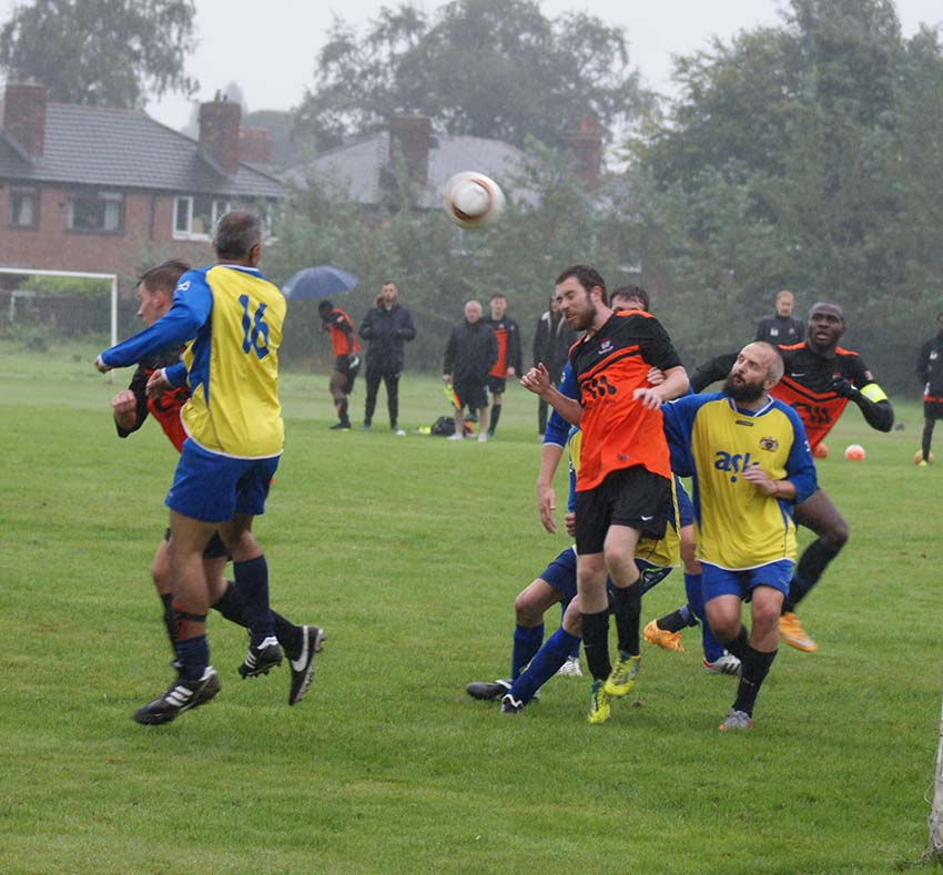 South Manchester seconds v AFC Oldham (South in yellow and blue)