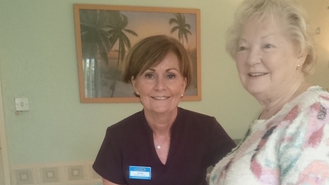 Julie Gill and Margaret Hughes at the Beechwood pamper day