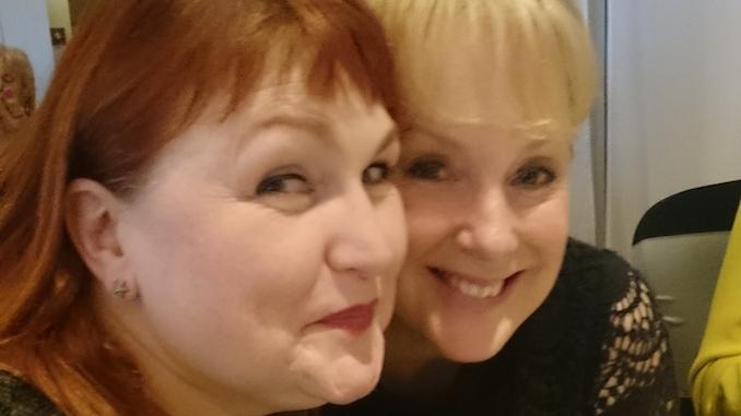 Sally Dynevor and her late friend Morag Siller