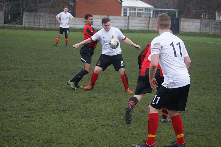 Whalley Range thirds v Hollingworth (Hollingworth in white shirts)