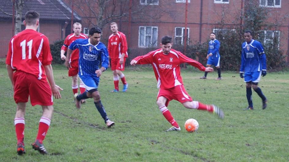 South Manchester v Old Ashtonians (Ashtonians in red shirts)