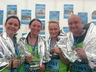 Last year's runners led by Scott Cooke – husband of Kirsty who passed away last year. Team Kirsty is also running this year.