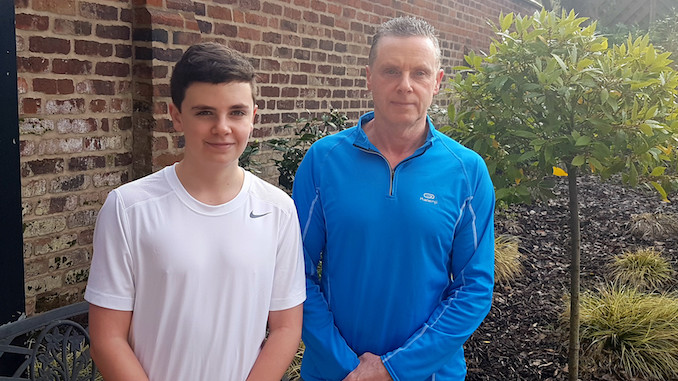 Declan Fleming and dad John are running for Francis House Children's Hospice