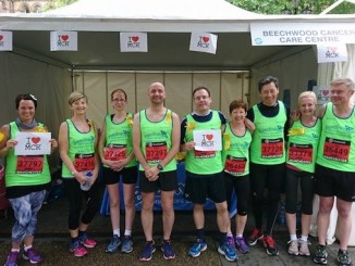 Team Beechwood at the Great Manchester Run