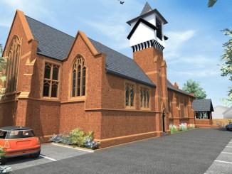Work is under way at St Augustine's Church in Cheadle Heath