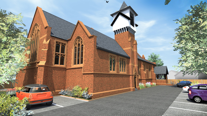 Work is under way at St Augustine's Church in Cheadle Heath