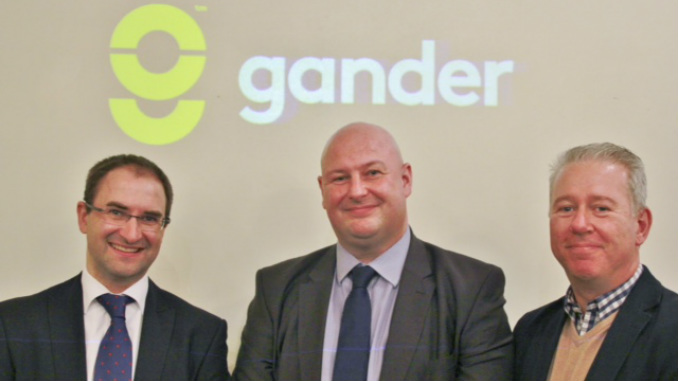 Gander co-founders Christian Mancier, Brian Bradley and Andrew Deighton