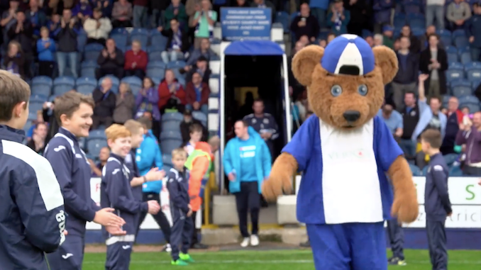 Charlie as Vernon makes his way out at Edgeley Park