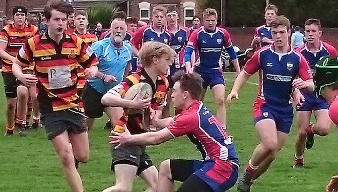 Nick Tenney takes on the Blackburn rearguard