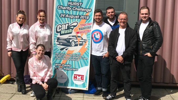HURST Pink Ladies and T Birds taking part in the charity challenge.