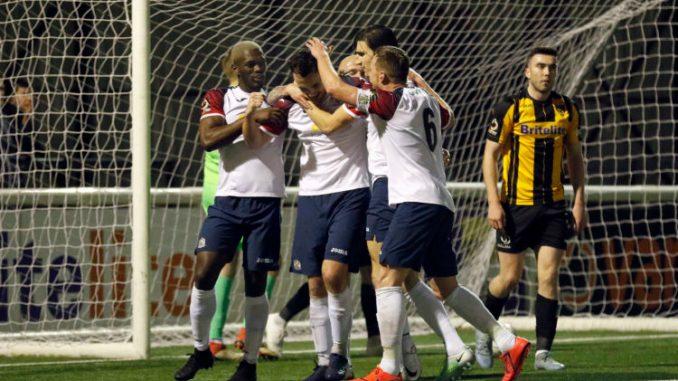 Jordan Keane. Maidstone United FC 0-3 Stockport County FC. Buildbase FA Trophy Quarter-Final replay. 26.2.19