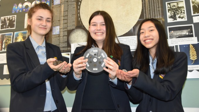 WGS pupils with space award