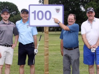 Tom Clancy, Mike Westbrook, Cliff Dews and Alistair Culpan complete their challenge