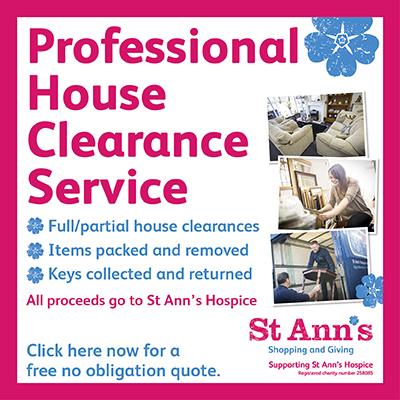 St Ann's Hospice house clearances