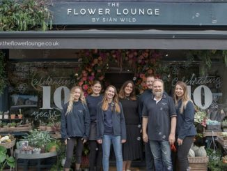 The Flower Lounge team celebrate 10 years in business