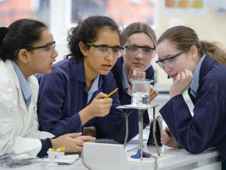 Withington Girls School science class