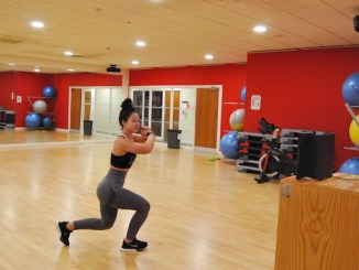 Hannah Ahmad takes the online clubbercise class