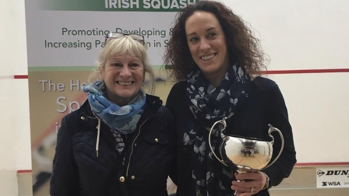 Laura Mylotte (right) with her trophy