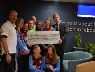 The Alex hospital gave funds to local junior football club