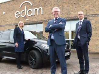 Amanda Miller (asset finance manager at Yorkshire Bank), Steve Turner (MD of EDAM Group) and Stephen Cox (relationship manager at Yorkshire Bank)