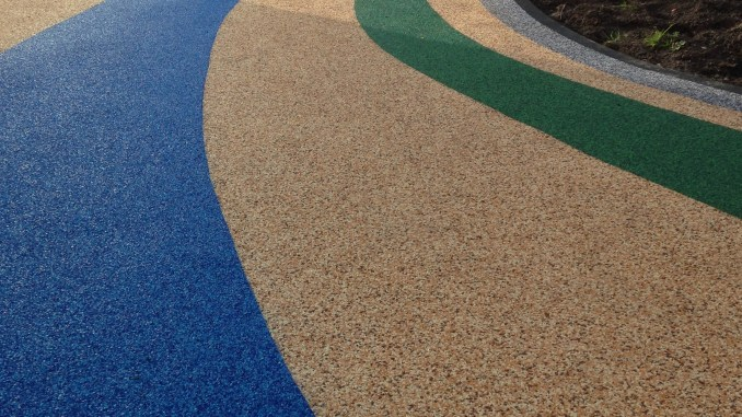 The rainbow path at Tithe Barn school