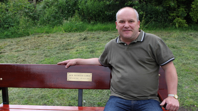 Makeover for bench in memory of young Jack Large