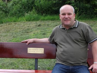 Nick Large on son Jack' Large memorial bench
