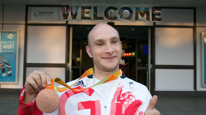 Andy Small won a medal at the Rio Paralympics