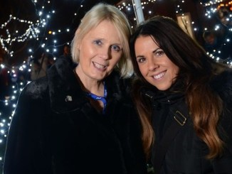 1. Fundraising manager Angela Gray and Beechwood patron Chelsea Norris at last year's Festival of Lights