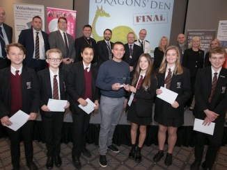 Wilmslow High School celebrate their Dragons' Den success