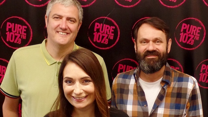 The Pure FM team of Paul Holloway, Clare Crane and Dave Stearn