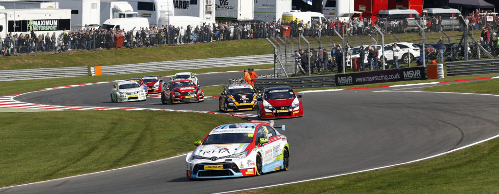 Ingram heads the pack at Brands Hatch, for Speedworks
