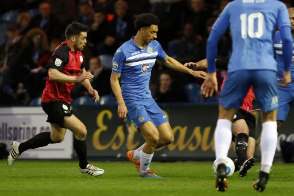 Lewis Montrose on the ball for County