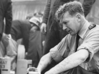PC John Lomas - one of the first people to be on the scene of the Stockport air crash