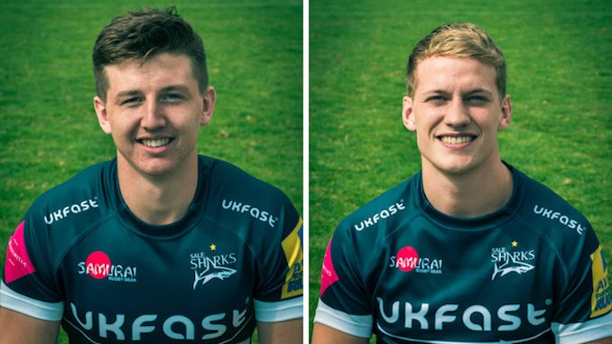 Sale Sharks Ben Curry and Mike Haley