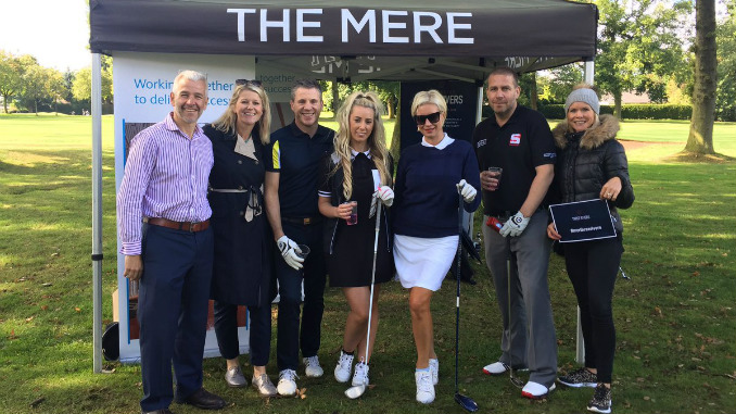 Denise Van Outen swings into action for Seashell Trust at Cardinal SAMBRO golf day