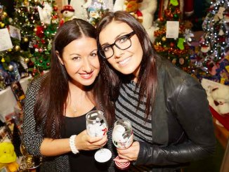 Kym Marsh and Hayley Tamaddon at the 2015 Festival of Trees