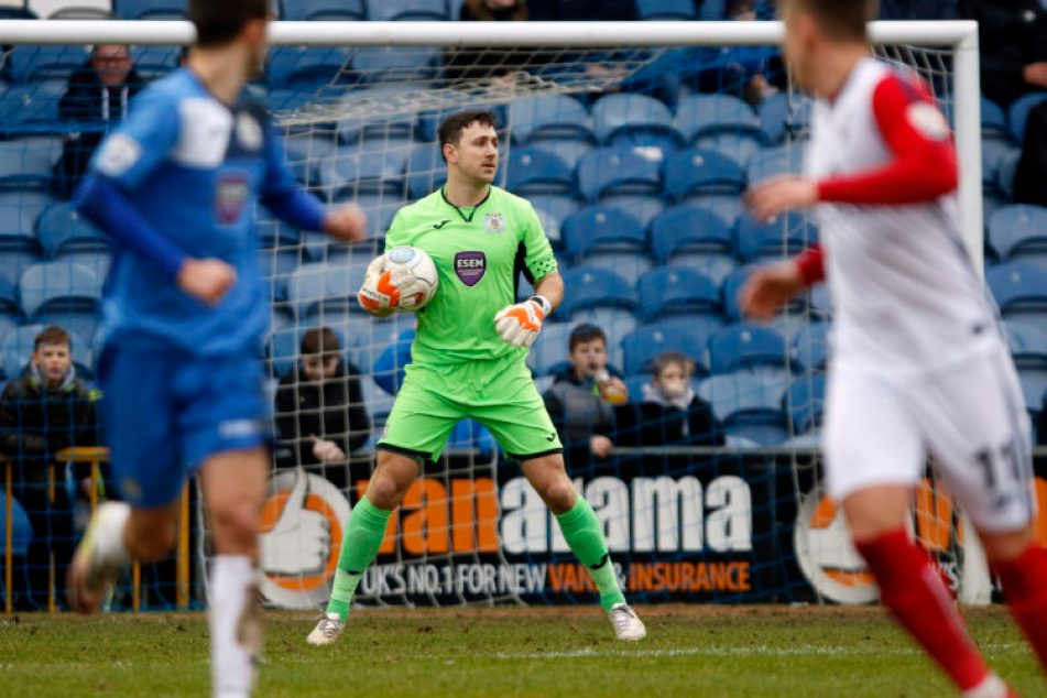 Ben Hinchliffe was Man-of-the-Match for Stockport County against York City