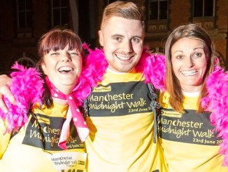 Carrie Burke, Matt Dunne and Leah Walker at last year's Midnight Walk