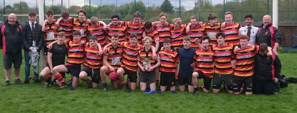The victorious Heaton Moor Junior Colts with the Lancashire Cup
