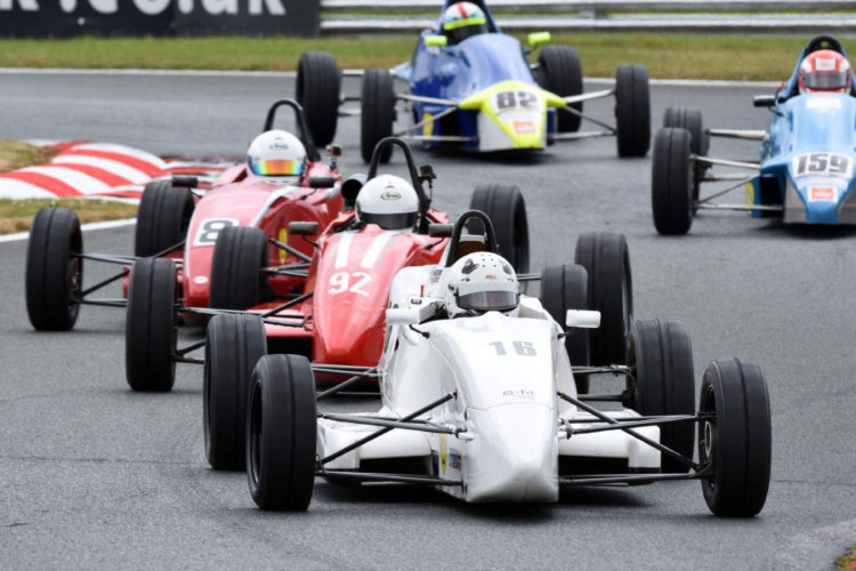 Formula Ford action at Oulton Park
