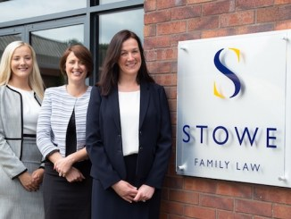 Solicitors Olivia Barry and Jennifer Reddy with Lesley Smythe at Stowe Family Law in Wilmslow