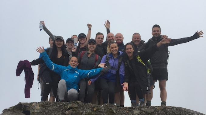 The HURST team at the top of Ben Nevis