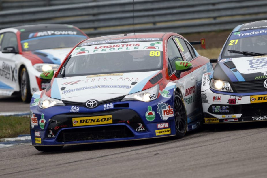 Tom Ingram in action at Rockingham