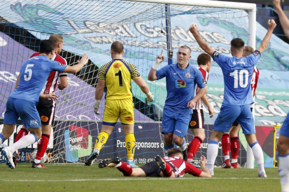 Frank Mulhern. Stockport County FC 2-0 Altrincham FC. Emirates FA Cup